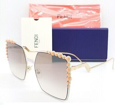 New Fendi sunglasses FF0259/S 35J 52mm Gold Brown Gradient AUTHENTIC Square (Fendi Shades)