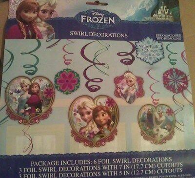 Decorations Of Frozen (Disneys Frozen set of 6 Hanging Swirl Decorations. New )