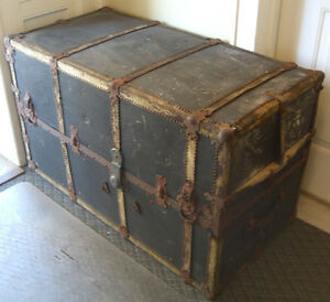 Steam Punk, Mendel & Co. Wardrobe Steamer Trunk, Yale Lock & drawers c. 1900