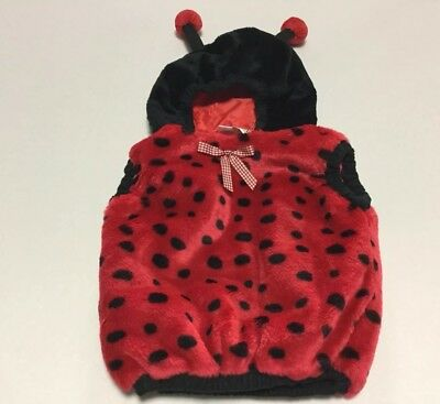 Soft Cozy Ladybug Costume Size 24 Months Lined Easy No Fuss Pull Over - No Fuss Halloween Costumes