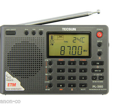 TECSUN PL-380 (Black Color) DSP PLL World Band Radio    >