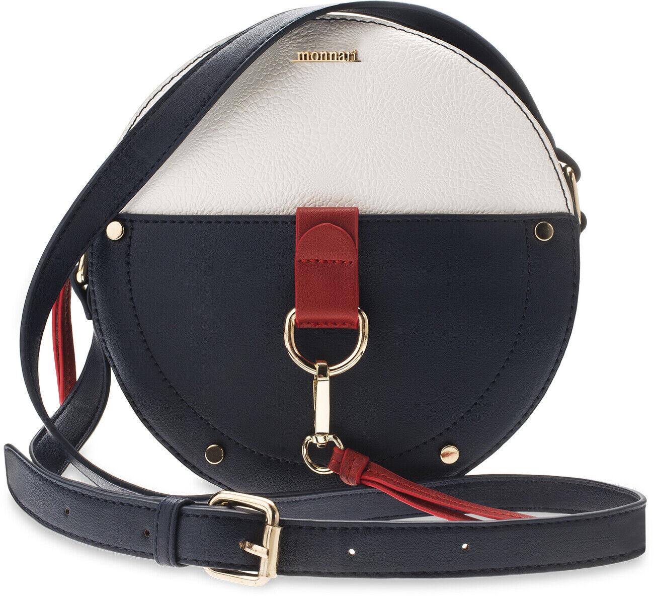 7c07a11ab94e7 Monnari runde Damentasche Köfferchen Handtasche Markentasche Marine-Look