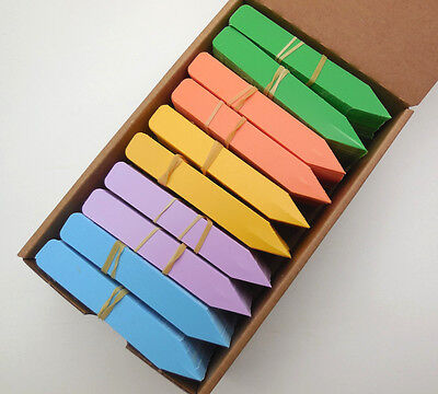 - Plastic Plant Stakes Tags Labels Rainbow Colors  500-2000 Made in USA  4