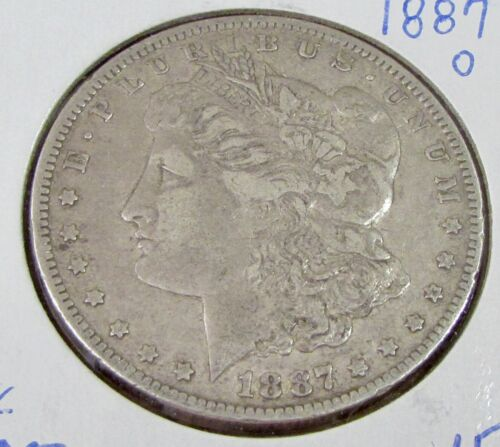 1887-O Morgan Silver Dollar $1 VF Very Fine Coin SEMI-KEY DATE! RARE A-2