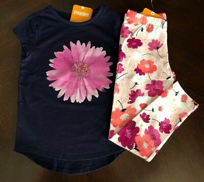 Nwt Gymboree Girl Bright Days Ahead Daisy Tee   Leggings Outfit  7 8 10 12 14