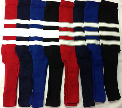 Baseball Stirrups Socks Black Navy Red Royal  with White Stripes Gray Stripes Black Baseball Stirrup
