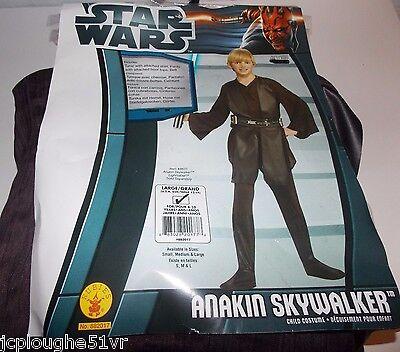 Star Wars Anakin Skywalker Jedi Halloween Costume Boys Size L 12 14 Pretend - Boys Jedi Costume