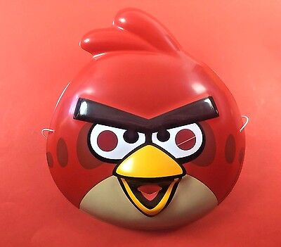 Angry Birds RED Kids Face Mask Costume Halloween Dress Up 3+ Party Idea App Game](Halloween Party Dress Up Game)