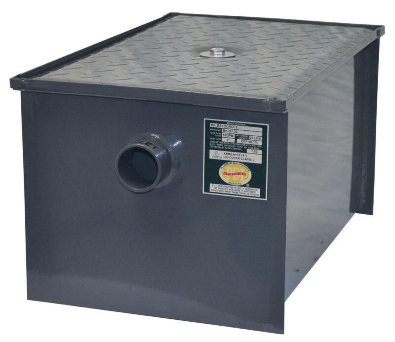 BK Resources BK-GT-50 50 lb Grease Trap Interceptor 25 Gallons Per Minute