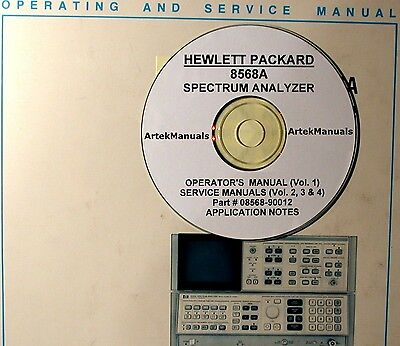 Hewlett Packard Operating Service Manual 4-vols For 8568a Spectrum Analyzer