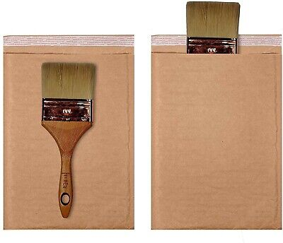 250 0 6.5x10 Kraft Natural Paper Padded Bubble Envelopes Mailers Case 6.5x10