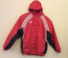 Vintage Red and White Adidas Puffer Jacket Coat - Youth XL ...