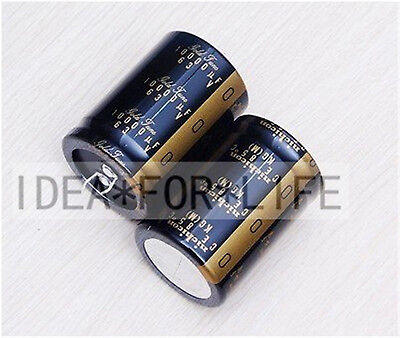 2pc Nichicon Kg Gold Tune 10000uf 63v Audio Grade Electrolytic Capacitor E181-b