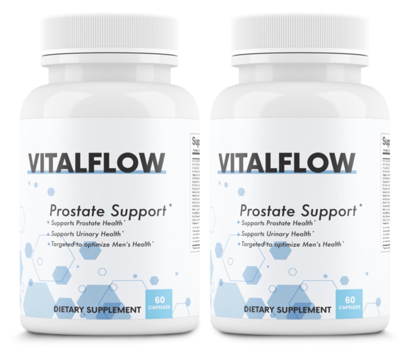 2 Bottles VitalFlow Prostate Support Formula Supplement 60 Capsules