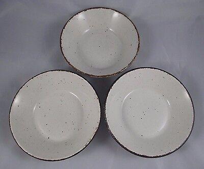 "Set of 3 Midwinter Stonehenge England CREATION 6 1/2"" Coupe Cereal Bowls EUC"