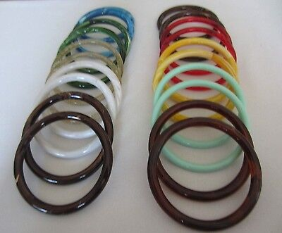 "10 Pair Assorted 5"" Round Plastic Macrame Rings Craft Supplies Purse Handles"