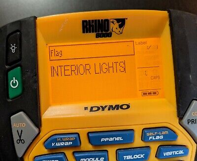 Dymo Rhino 6000 Professional Label Maker W Rechargeable Battery - Cleaned