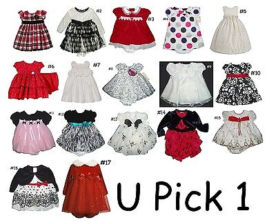 Dress Party Girl Special Occasion Holiday Wedding Fancy Flower Baby 2 Piece Set