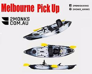 3.1M Fishing Kayak 1 Adult and 1 Kid,Paddles,Rod Holders and Seat Wantirna South Knox Area Preview
