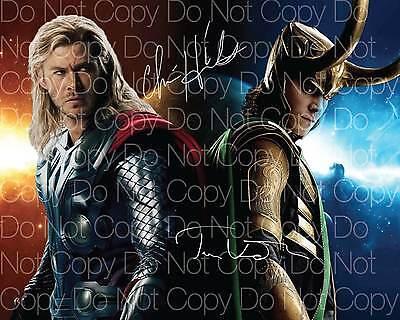 Thor   Loki Chris Hemsworth Hiddleston 8X10 Photo Picture Poster Autograph Rp