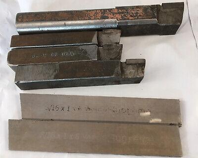 Lot 6 Metal Lathe Cutting Tools Bits Carbaloy Act Vasco Supreme
