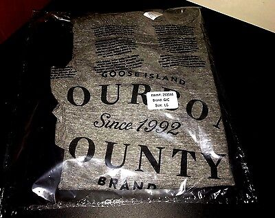 2016 NEW Sealed AUTHENTIC Goose Island BOURBON COUNTY Beer BCBS Rare Shirt XL
