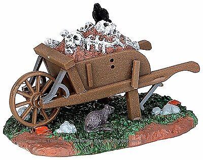 Lemax 54906 SCARY WHEELBARROW Spooky Town Accessories Halloween Decor I - Spooky Halloween Decor