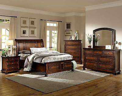 FABULOUS & FUNCTIONAL 4 PC QUEEN FOOT BOARD STORAGE BED BEDROOM FURNITURE