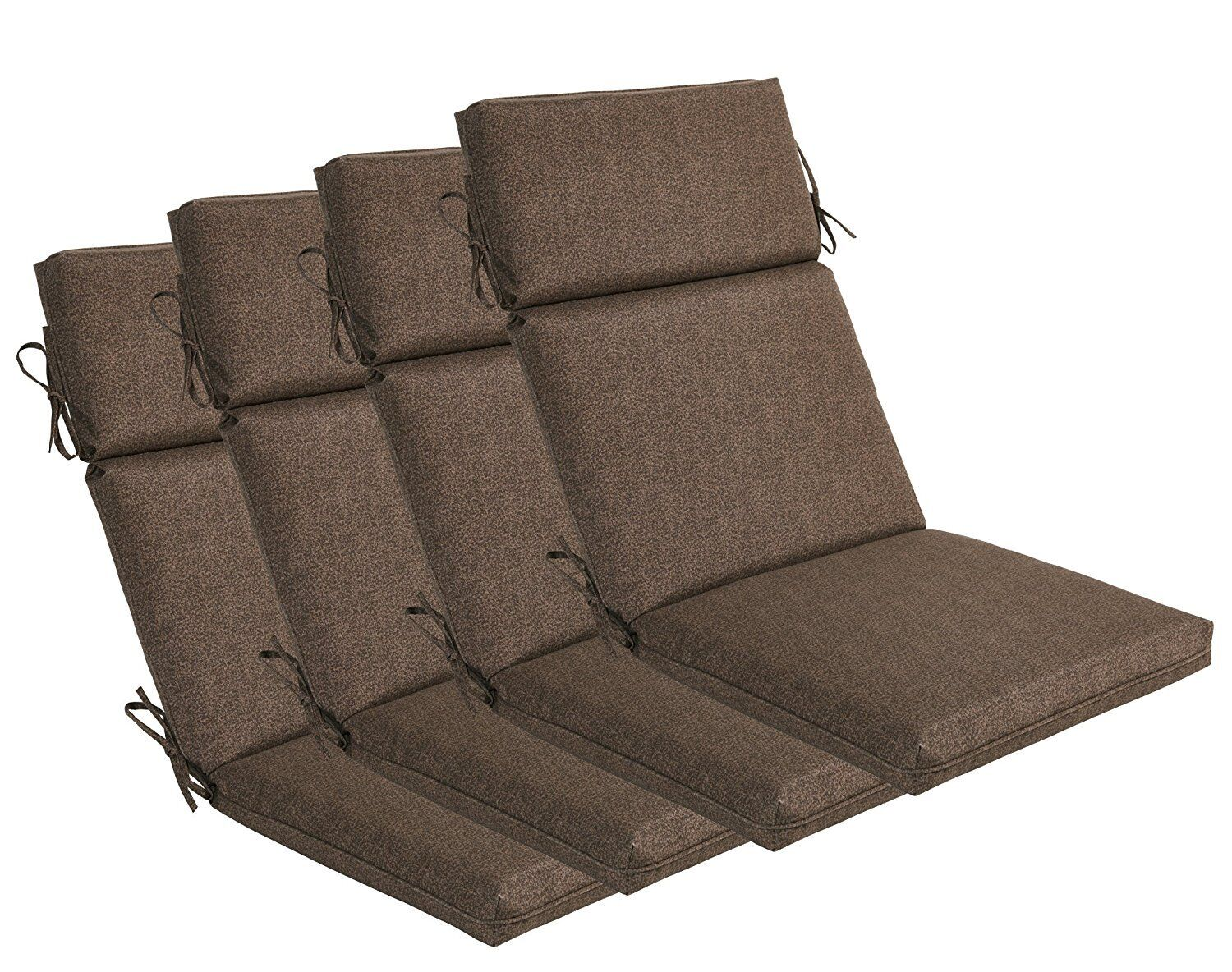 Bossima Outdoor Seat Pad Cushions Patio High Back Dining