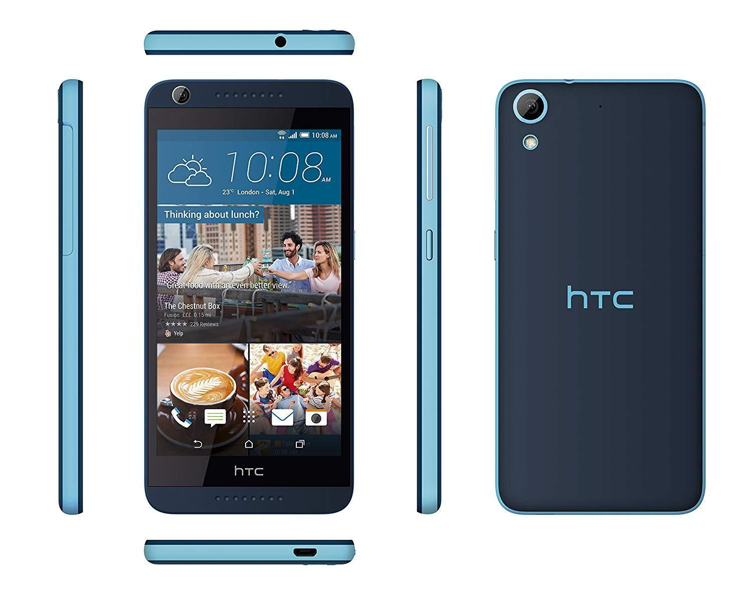 """Android Phone - HTC Desire 626 Blue Unlocked Mobile Phone Smartphone 5"""" 13MP 16GB 4G Wifi"""