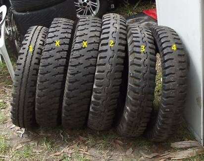 """Vintage Tyres (4) 16"""" to suit old trucks Basin View Shoalhaven Area Preview"""