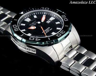 Invicta Men 53mm GRAND DIVER Black Dial Stainless St LIMITED ED. Automatic Watch