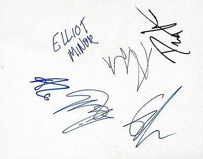 ELLIOT MINOR AUTOGRAPHS - Signed 10x8 card - Genuine Signatures