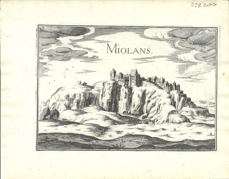 Antique map, Miolans