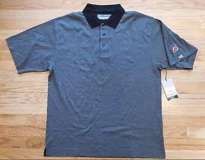 NEW JERSEY DEVILS HOCKEY CUTTER & BUCK CB DRYTEC BLACK/GRAY POLO SHIRT Cutter & Buck Jersey Polo Shirt