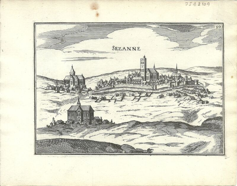 Antique map, Sezanne