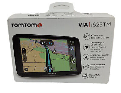 NEW TomTom VIA 1625TM 6-Inch GPS Navigation Device With Free Lifetime Traffic