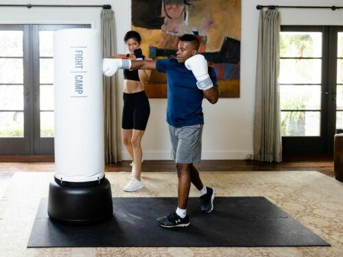 "Fight Camp Mat Interlocking Boxing MMA Heavy Duty 8 Mats 24""x 23"" Each Black"