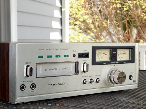 Realistic TR-883 8 Track Stereo Tape Deck - PRO TECH SERVICED - VIDEO DEMO!