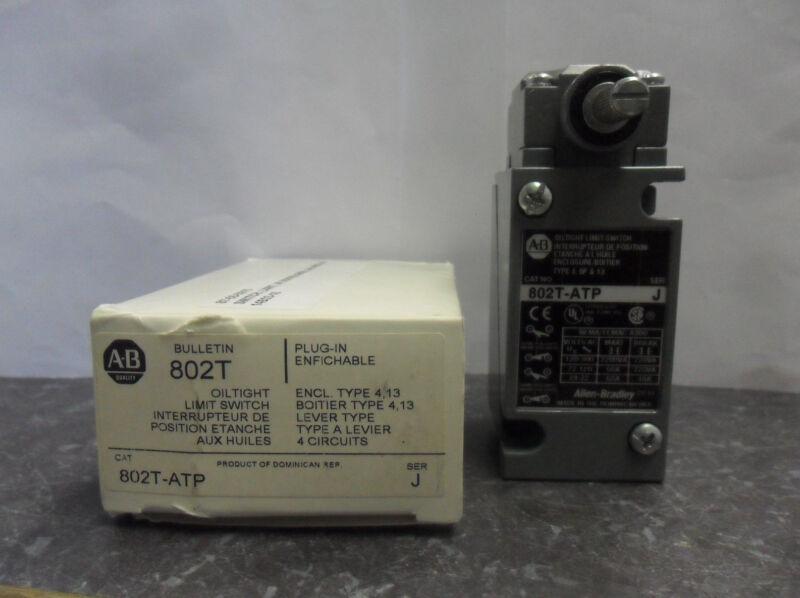 New Allen Bradley 802T-ATP Plug-in Oil tight Limit Switch Series J NIB