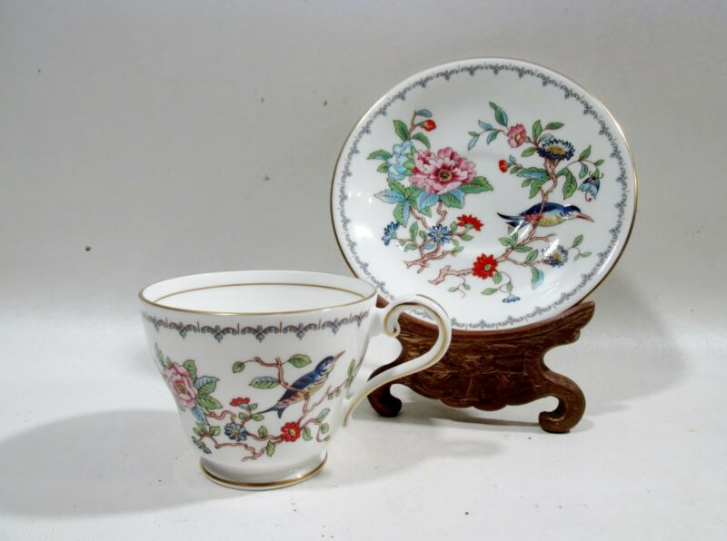 Aynsley Bone China Pembroke 3 Cups & Saucers Japonesque