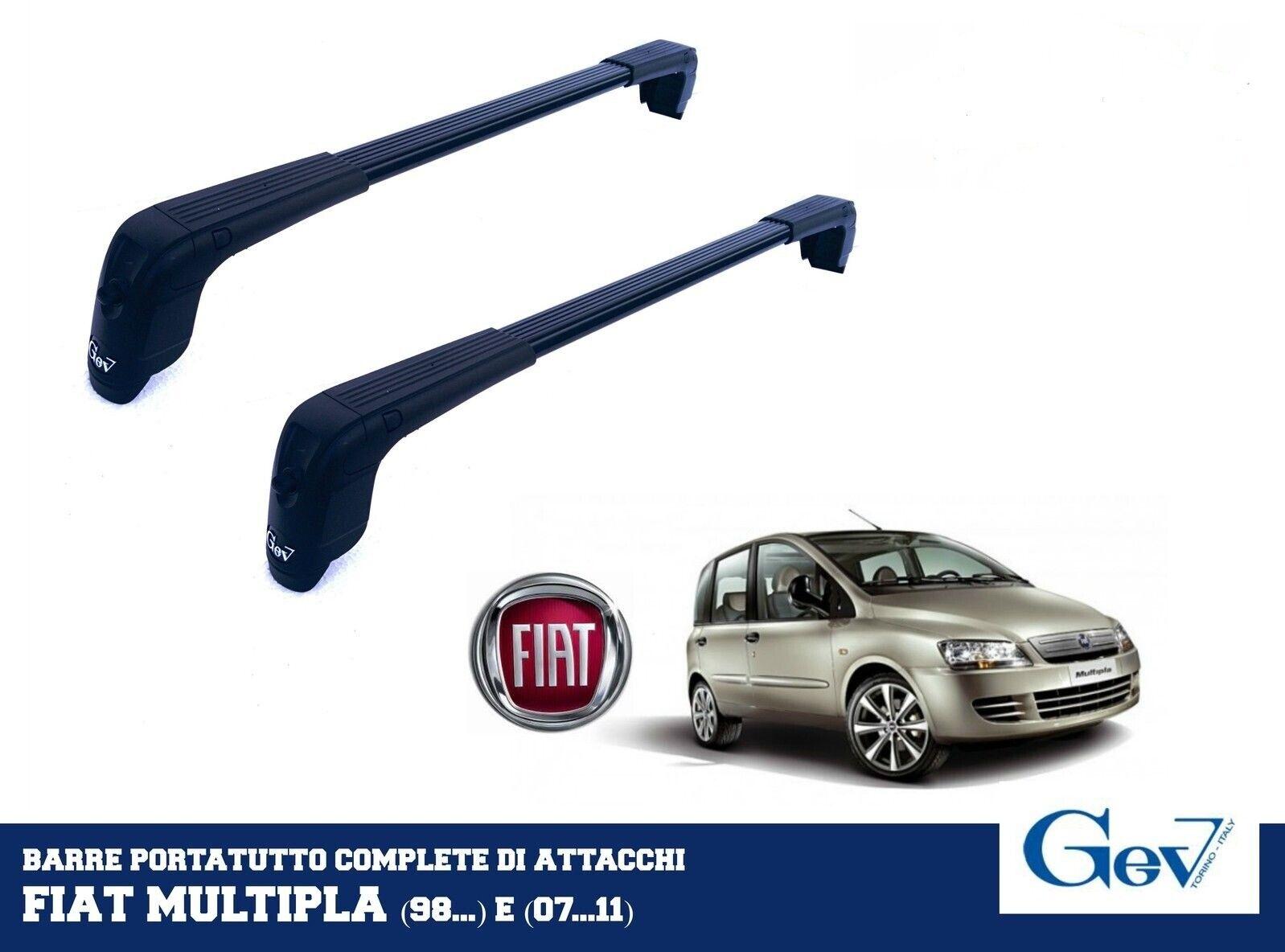 BARRE PORTATUTTO PORTAPACCHI PREMONTATE NERE GEV COD. 4815 FIAT MULTIPLA 1998>