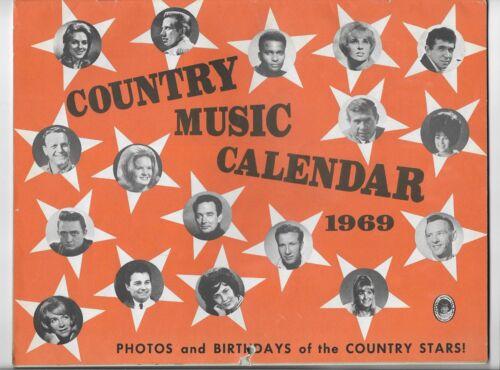 1969 COUNTRY MUSIC STARS PHOTO CALENDAR~FOLEY,CAMPBELL,CLINE,PRIDE,ATKINS,OWENS