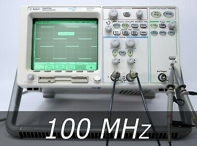 Hp Agilent 54622a 2-channel 100 Mhz Oscilloscope 2 New Probes. Very Clean