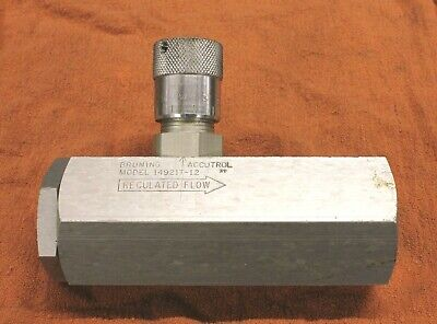 Bruning Accutrol 14921t-12 Hydraulic Flow Control Valve