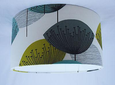 16 Lampshade Handmade In Uk - Sanderson Dandelion Clocks Fabric
