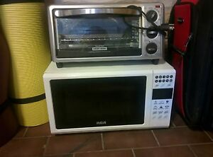 Microwave and toaster oven, new like condition
