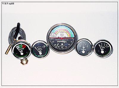 Ih Farmall 340 Tractor Gasdsl Tachometer Tempoil Pressure Amp Fuel Gauge