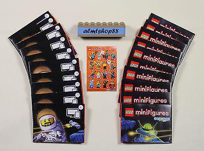LEGO Minifigures Leaflet Insert Pamphlet Flyer Series 14 Posters Lot 20 pcs