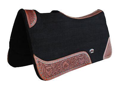 Challenger Horse Western Contoured Wool Felt Therapeutic Saddle Pad 39147BK Wool Felt Saddle Pad